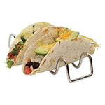 Tablecraft TRW34 Taco Holder - Holds 3-4 Tacos, Wire, Stainless