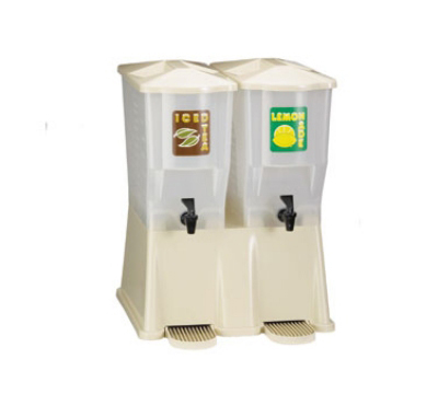 Tablecraft TW33DPH Heavy Duty Beverage Dispenser, (2) 3-Gal Reservoir, Almond