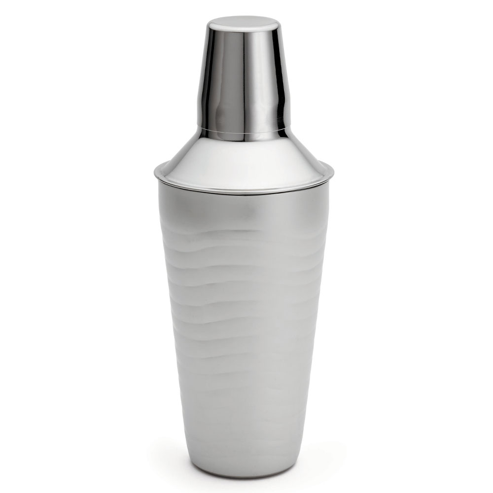 Tablecraft W377 24-oz Cocktail Shaker w/ Wave Design, Stainless
