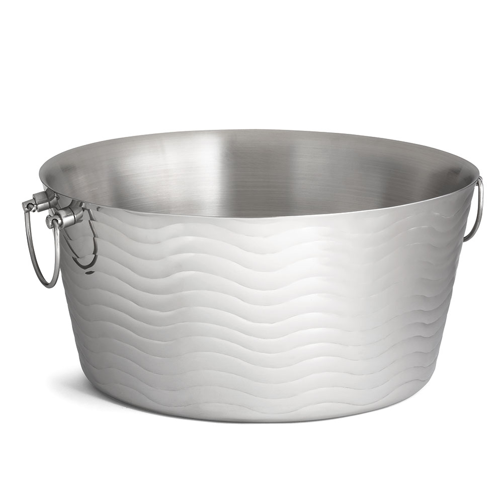 "Tablecraft WBT199 19"" Wave Beverage Tub - Double-Wall, Stainless"