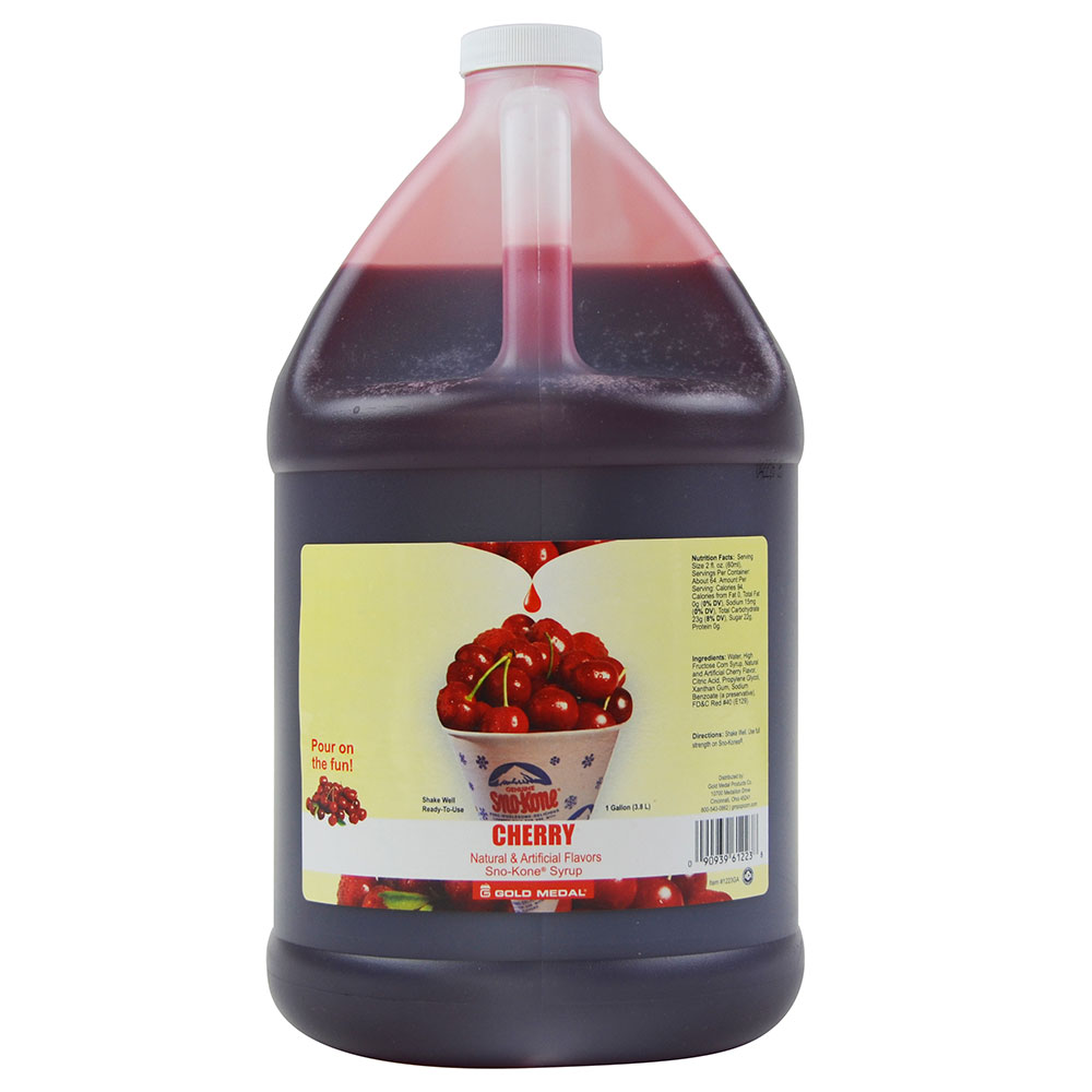 Gold Medal 1031GA 1-gal Ready-To-Use Hawaiis Finest Sno-Kone Concentrate, Cherry