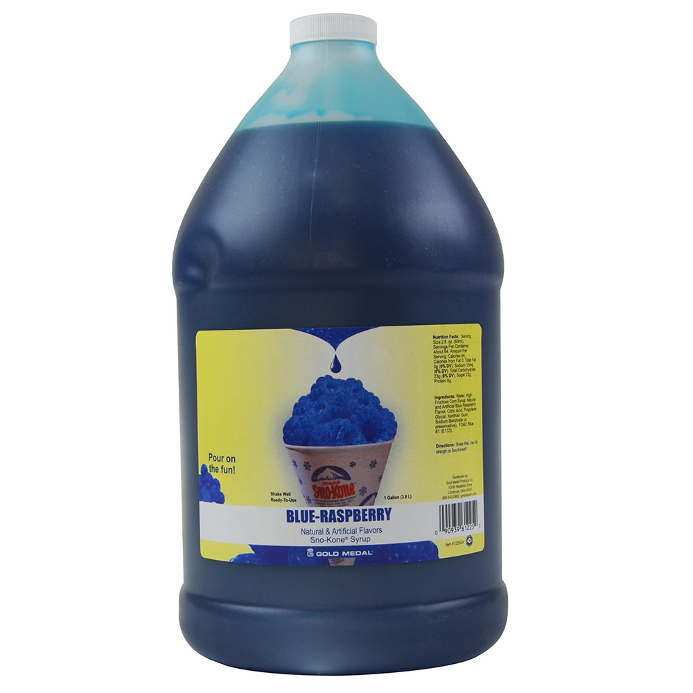 Gold Medal 1035GA Hawaiis Finest Sno-Kone Concentrates, Gallon, Blue Raspberry
