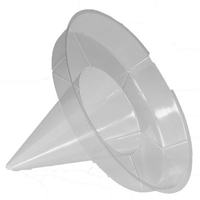 Gold Medal 1080 Clear Disposable Super Cone Drip Proof Sno-Kone Holder, 200/Case