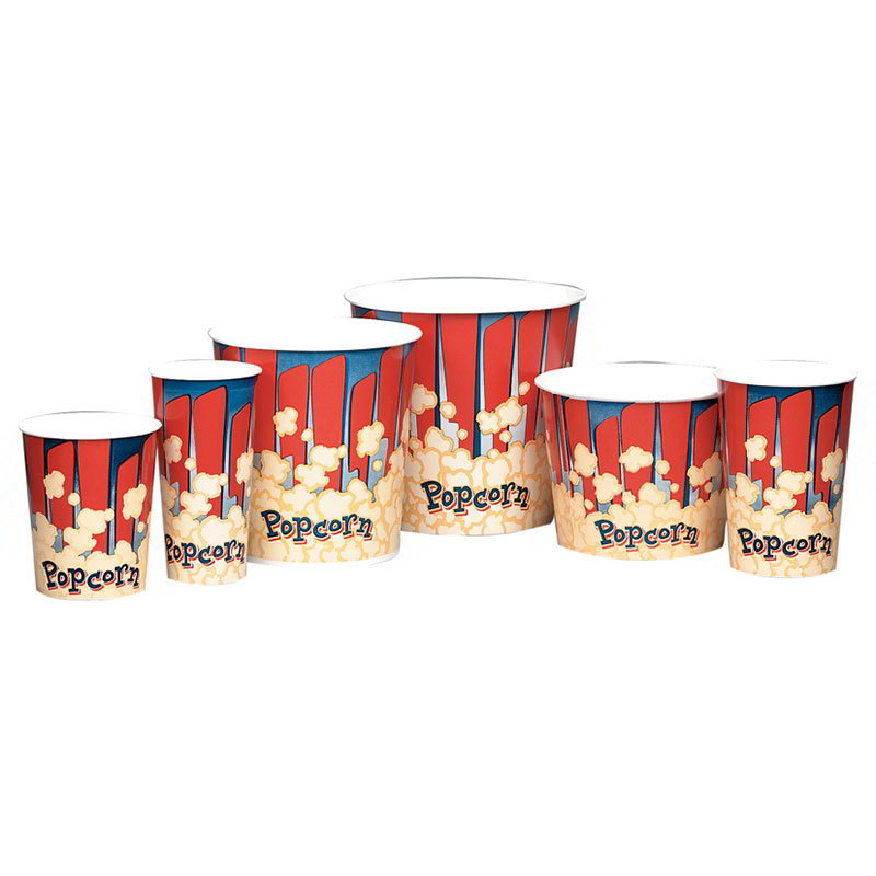 Gold Medal 1196RB 32-oz Red Disposable Popcorn Cups, 500/Case