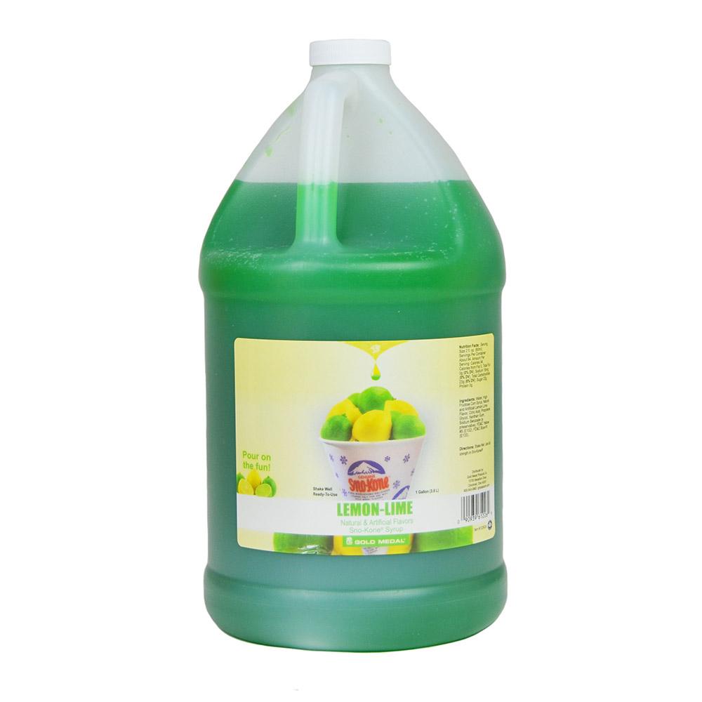 Gold Medal 1226 Lemon-Lime Sno Treat Flavor, (4) 1 Gallon Per Case