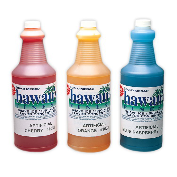 Gold Medal 1373 1-qt. Hawaii's Finest Shave Ice/Sno-Kone Watermelon Flavor Concentrate