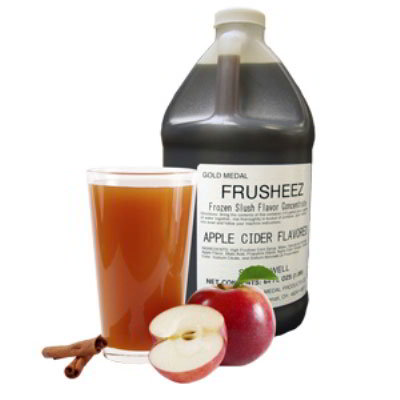 Gold Medal 1446 1/2-Gallon Bottle Of Frusheez Flavor, Apple Cider