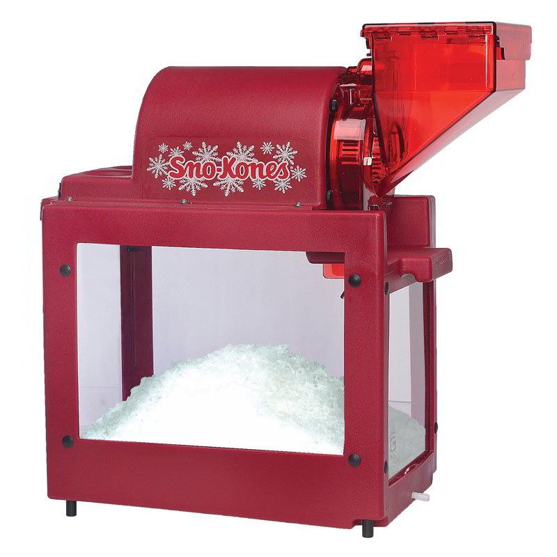 Gold Medal 1800 Sno Pro Auto Ice Shaver Sno-Kone Machine w/ 300-lbs/hr Capacity, Red