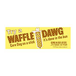 Gold Medal 1990 Waffle Dog Poster