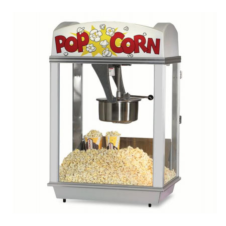 Gold Medal 2001 120208 Citation Popcorn Machine w/ 16-oz Unimaxx Kettle & White Dome, 120v