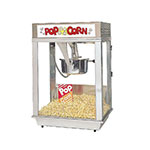 Gold Medal 2001ST 120208 Citation Popcorn Machine w/ Deluxe 16-oz Unimaxx Kettle & Stainless Dome, 120v
