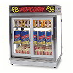 Gold Medal 2004SLDD Astro Pop Staging Cabinet w/ 2-Sliding Doors & 3-Shelf Warmers