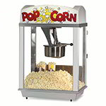 Gold Medal 2005 Deluxe Whiz Bang Popcorn Machine w/ 12-oz Kettle & White Dome, 120v