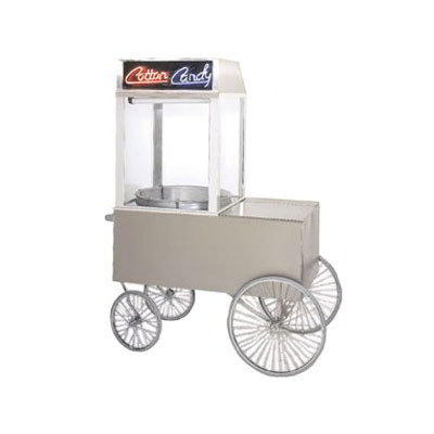 Gold Medal 2012ST Popcorn Wagon w/ 4-Spoke Wheels, Stainless, 48x34""