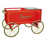 Gold Medal 2013 Popcorn Wagon w/ Stainless Countertop & 4-Spoke Wheels, Red, 62x34-in