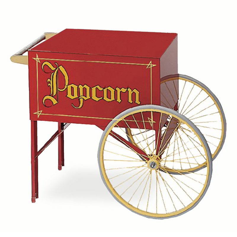 Gold Medal 2015 Popcorn Wagon w/ 2-Spoke Wheels, Red, 20x28-in