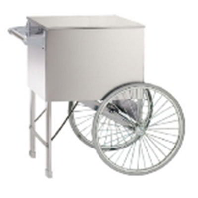 Gold Medal 2015W Popcorn Cart w/ 2-Spoke Wheels, White, 38x27-in