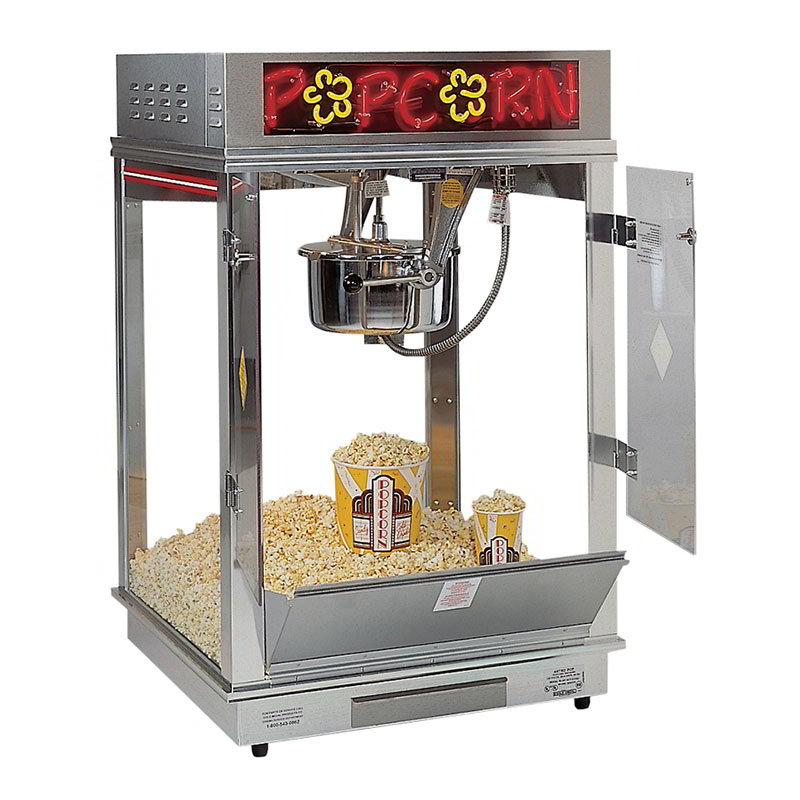 Gold Medal 2023E 120240 Astro Pop 16 Popcorn Machine w/ 16-oz Unimaxx Kettle & Stainless Dome, Counter, 120/240V