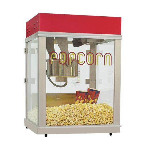 Gold Medal 2024 120208 Econo 16 Popcorn Machine w/ 16-oz Unimaxx Kettle & Red Dome, 120/208V