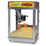 Gold Medal 2024ST 120240 Econo 16 Popcorn Machine w/ 16-oz Kettle & Red Stainless Dome, 120/240V
