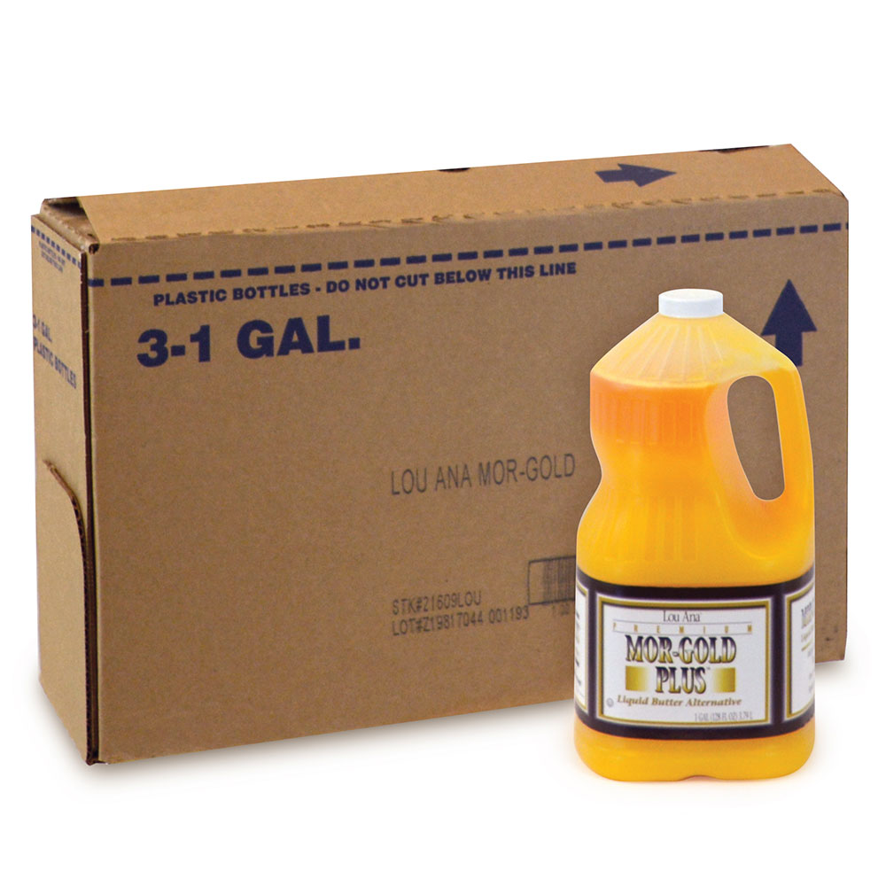 Gold Medal 2039LA Deluxe Buttery Flavored Topping, (3) One Gallon Jug