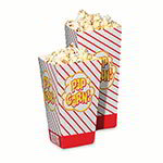 Gold Medal 2060 1.25-oz Medium Scoop Disposable Popcorn Boxes, 500/Case