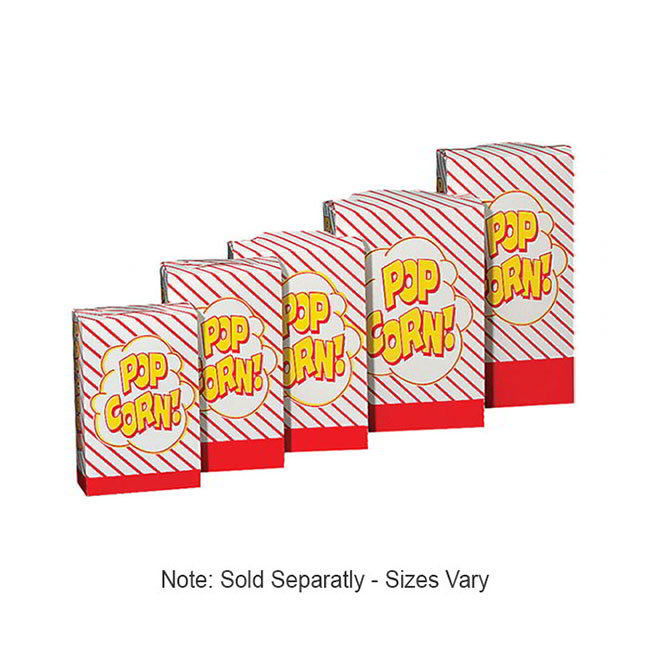 Gold Medal 2062 1 to 1.25-oz Popcorn Boxes, 500/Case