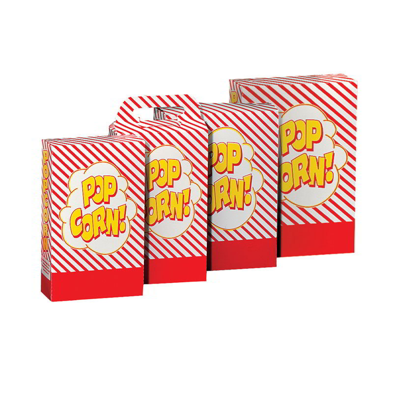 Gold Medal 2064 2.3 to 2.8-oz Disposable Popcorn Boxes, 250/Case