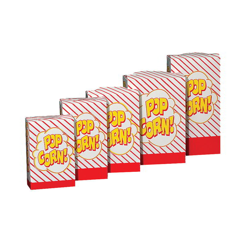 Gold Medal 2065 1.5 to 1.8-oz Disposable Popcorn Boxes, 500/Case