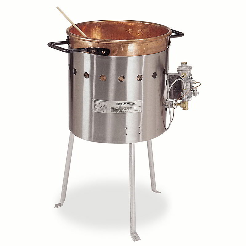 "Gold Medal 2080BG Caramel Corn Stove w/ Bottle Gas & 19"" Deep Kettle, Handles"