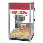 Gold Medal 2085 120240 Unimaxx-60 Popcorn Machine w/ 6-oz Spun Stainless Kettle & Red Dome, 120/240V