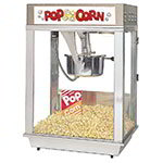 Gold Medal 2102EST 120208 Citation Popcorn Machine w/ Deluxe 16-oz Kettle & Stainless Dome, 120/208V