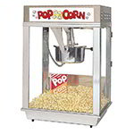 Gold Medal 2102EST 120240 Citation Popcorn Machine w/ Deluxe 16-oz Kettle & Stainless Dome, 120/240V