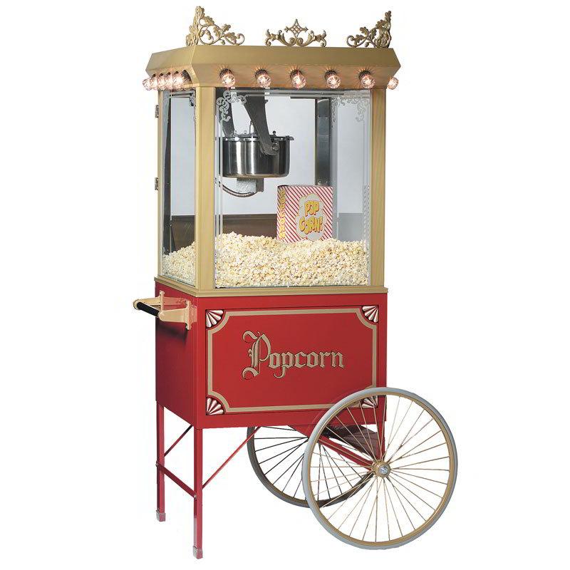 Gold Medal 2119 120208 Antique Citation Popcorn Machine w/ 16-oz Kettle & Gold Dome, 120/208V
