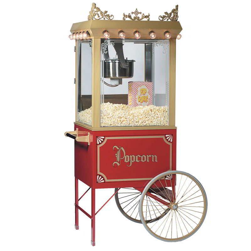 gold metal popcorn machine