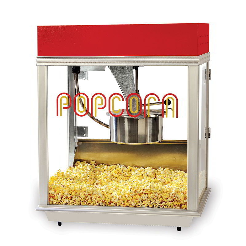 Gold Medal 2121 120208 Econo 14 Popcorn Machine, 14 oz Kettle, Tempered Glass, 120/208 V