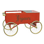 "Gold Medal 2129 Gay 90 Red Popcorn Wagon w/ (4) 20"" Wheels, Stainless, White"