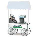 "Gold Medal 2129HF Food Cart for Shaved Ice w/ Cover & Graphics, 57""L x 26""W x 90""H, White"