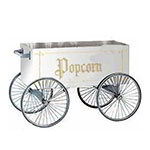 "Gold Medal 2129W Food Cart for Popcorn w/ Cover & Graphics, 57""L x 26""W x 90""H, White"