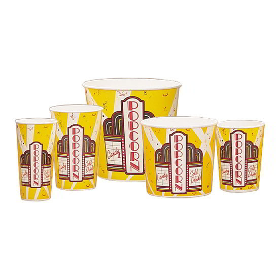 Gold Medal 2134 85-oz Premier Design Disposable Popcorn Butter Cups, 150/Case