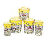 Gold Medal 2134PC 85-oz Popcorn Design Disposable Popcorn Butter Cups, 150/Case