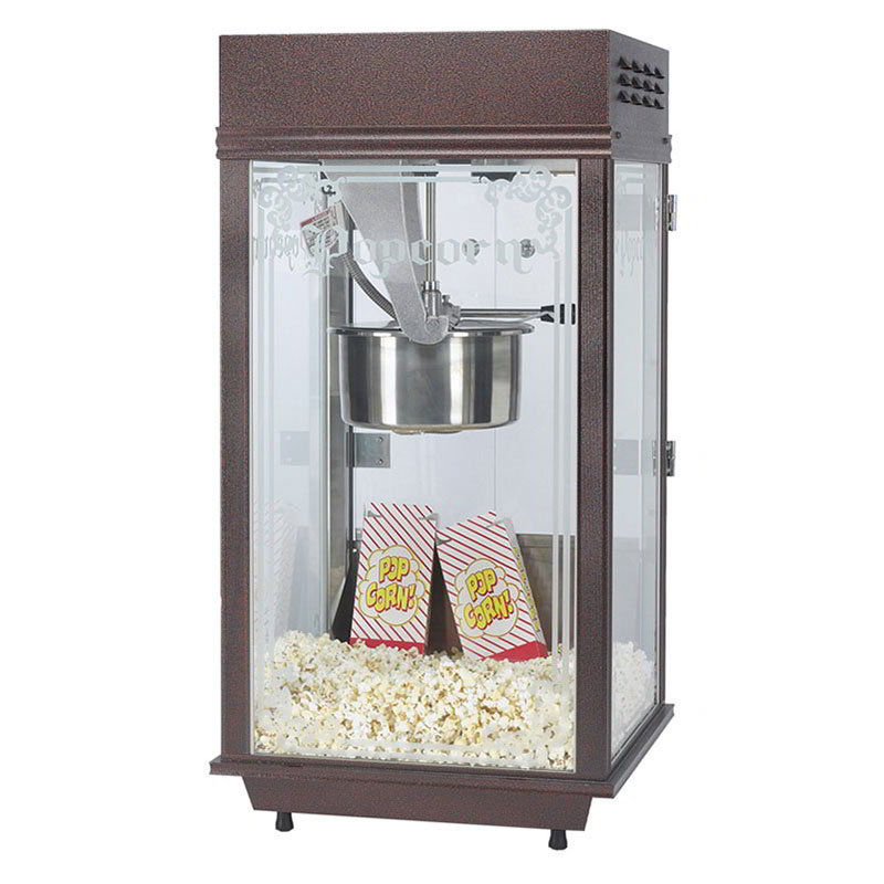 Gold Medal 2147 120240 Deluxe Pinto Pop Popcorn Machine w/ 8-oz Kettle & Copper Vein Finish, 120/240V