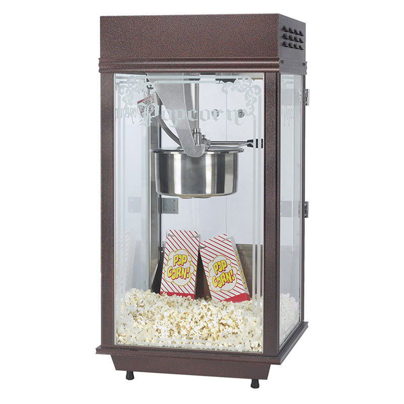 Gold Medal 2147EX Deluxe Pinto Popcorn Machine w/ 8-oz Kettle & Copper Vein Finish, Export, 230v/1ph
