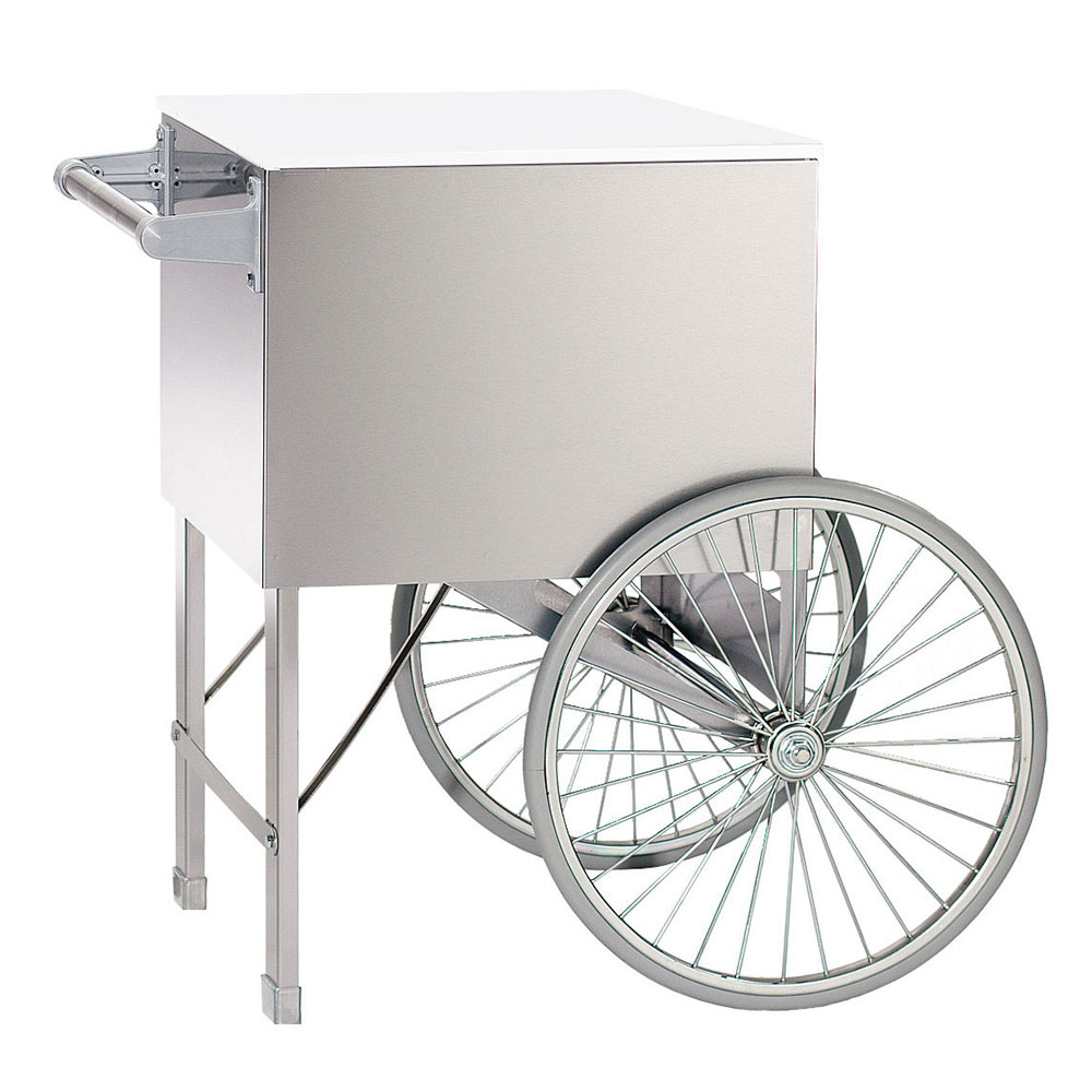 "Gold Medal 2148ST 20"" Steerable Cart w/ 2-Spoke Wheels, Stainless"