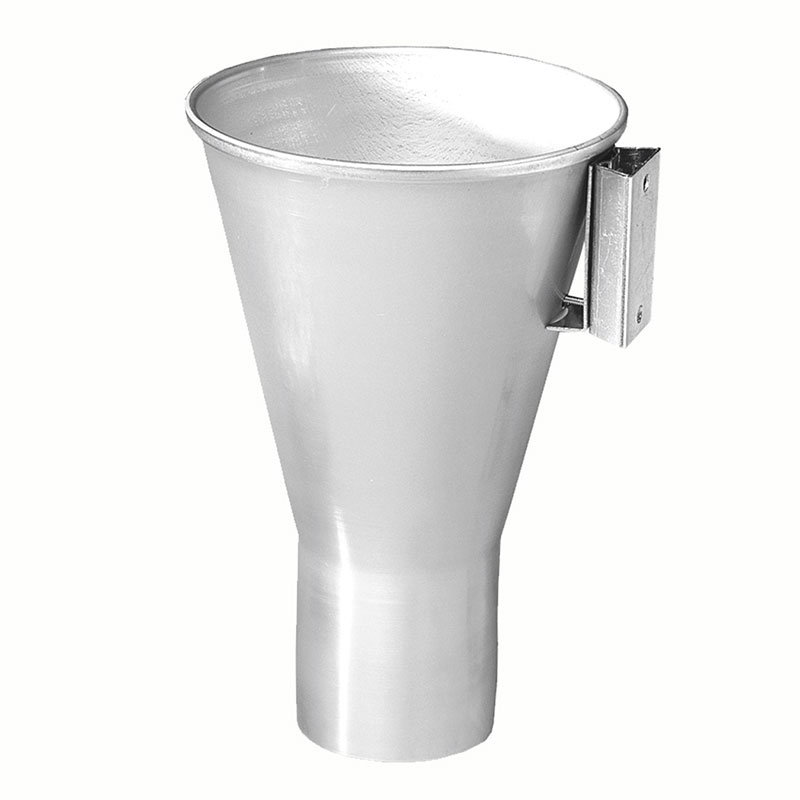 Gold Medal 2151 Popcorn Filler Funnel w/ Bracket for Mounting to Popper, Aluminum