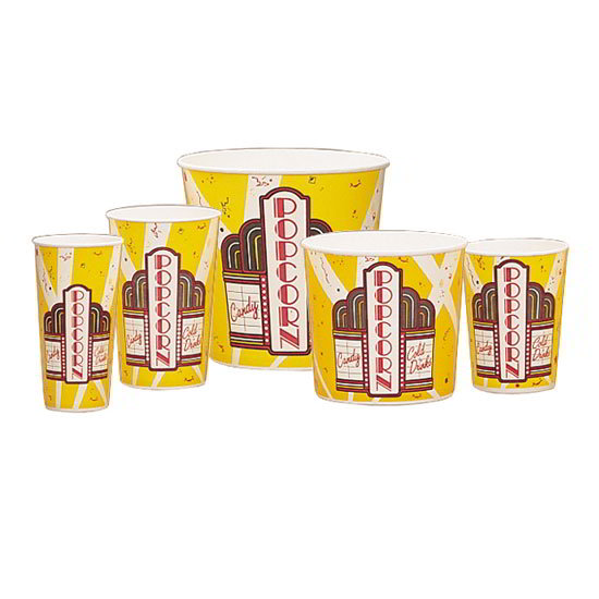 Gold Medal 2170 170-oz Premier Design Disposable Popcorn Butter Tubs, 150/Case