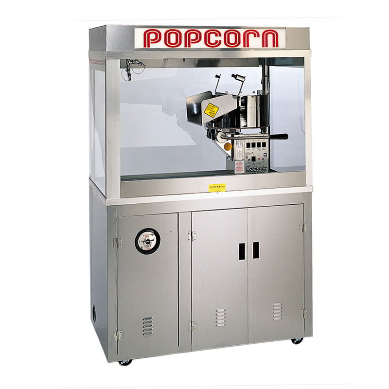 "Gold Medal 2178ED 120208 Cornado Popcorn Bar w/ 36-oz Kettle & 60"" Enclosed Cabinet, 120/208V"