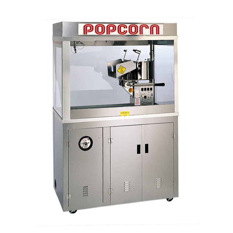 "Gold Medal 2178ED 120240 Cornado Popcorn Bar w/ 36-oz Kettle & 60"" Enclosed Cabinet, 120/240V"