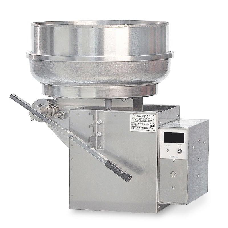 Gold Medal 2181EL 120240 Pralinator Frosted Nut Maker w/ 4-lb Batch Capacity & Left Hand Dump, 120/240V