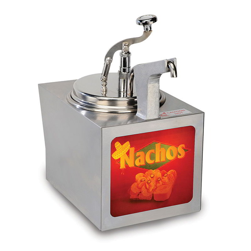 Gold Medal 2197NS 11-qt Nacho Cheese Warmer w/ Heated Spout, Cabinet Design, 120v